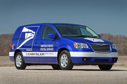 USPS Chrysler ENVI Electric Minivan