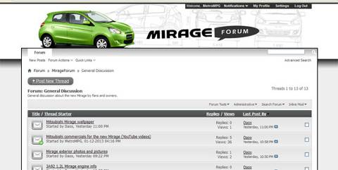 Post image for EcoModder starts a new forum for the 2014 Mitsubishi Mirage