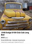 Possible doner body 48 dodge 1ton Dulle $800
