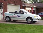 1991 Pontiac Firefly (Geo Metro) convertible - before